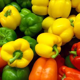 Sweet Peppers by Lope Piamonte Jr - Food & Drink Fruits & Vegetables