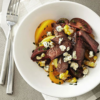 Grilled Steak and Corn with Heirloom Tomatoes