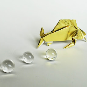 Fish by Anika McFarland - Artistic Objects Other Objects ( golden fish, fish, paper fish, gold, origami,  )