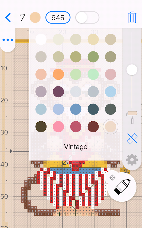 Cross Stitch Saga needlepoint Screenshot 1