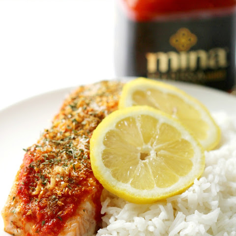 Harissa Salmon with Shredded Coconut