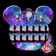 Starry Galaxy Minny Keyboard Theme