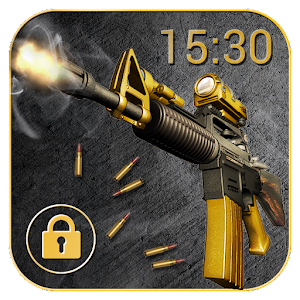 Cool Gun Shooting Lock Screen App