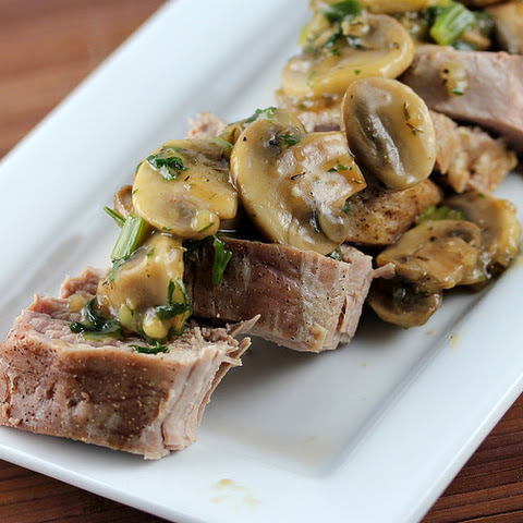 Pork Tenderloin with Sherry Mushroom Sauce