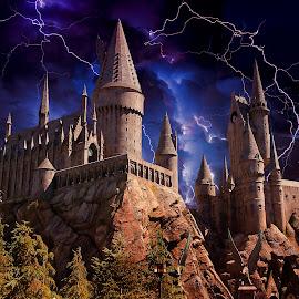Harry Potter's Castle by Gérard CHATENET - Digital Art Places