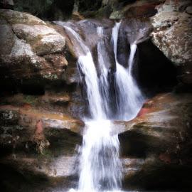 Falls Closeup by Virginia Howerton - Nature Up Close Water ( water, park, nature, falls, waterfall )