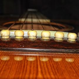 My Old Guitar by Nick Goetz - Artistic Objects Musical Instruments ( saddle, bridge pins, guitar, strings, bridge )
