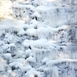 buttermilk Falls frozen over by Tim McCarthy - Abstract Water Drops & Splashes
