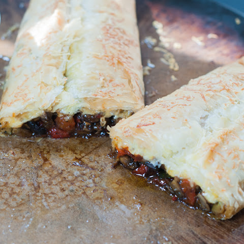 Roasted Vegetable Stuffed Phyllo Dough