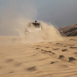 Action on Sands by Ahmed Salah - Landscapes Deserts ( sand, jeep, safari, action, sandy, deserts )