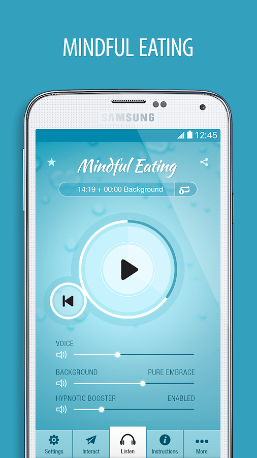 Mindful Eating Hypnosis Pro Screenshot 0