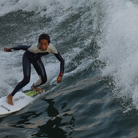 HB Surfer by Jose Matutina - Sports & Fitness Surfing ( orange county, surfer, sport, huntington beach )