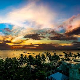 Sunrise at Bolabog Beach by Alexander Nainggolan - Landscapes Sunsets & Sunrises ( shore, boracay, beach, sunrise, landscape, phillipine )