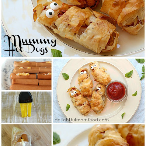 Crispy Phyllo Wrapped Hot Dog Mummies