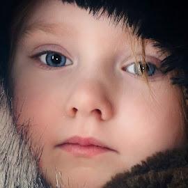 Flushed in Fur by Cheryl Korotky - Babies & Children Child Portraits