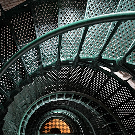 Currituck Light Spiral by Teresa Daines - Buildings & Architecture Architectural Detail ( lighthouse, currituck )
