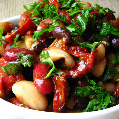 3-Bean Salad with Sun dried Tomatoes