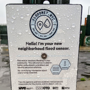 FLOODNET.NYC CUNY.EDU Hello! I'm your new neighborhood flood sensor.  This sensor monitors flooding in your community. This information is used to better understand the problem and identify ...