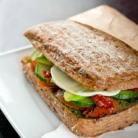 Mozzarella, Tomato, Pesto & Avocado Sandwich