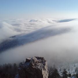 Ještěd by Martin Kolář - Landscapes Weather ( fog, czech republic, liberec, ještěd )