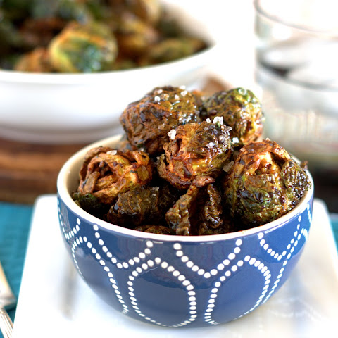 Flash Fried Brussels Sprouts with Balsamic Drizzle