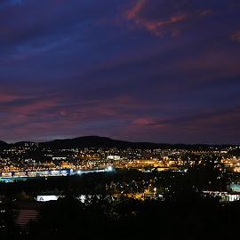 Balcony view by Cristian Delurintu - City,  Street & Park  Night ( europe, night, city )