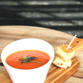 Summer Grilled Tomato Soup
