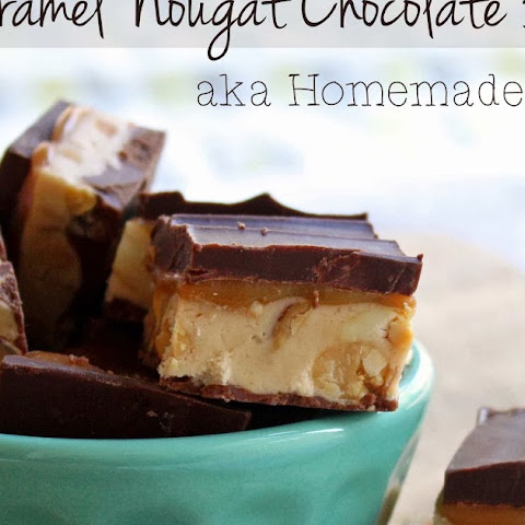 Caramel Nougat Chocolate Bars