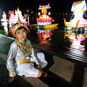 Prince of The Festival.. by Ian Gledhill - News & Events World Events ( lights, fashion, event, buddhist, thailand, asia, thai, festival, boy, culture, , contest, photography, theme, tradition, mind, challenge )