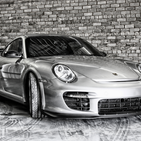 Porsche 911 by Gavin Plessis - Transportation Automobiles ( motor car, silver, porsche, beauty, racetrack,  )