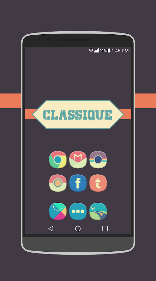 Classique Icon Pack Theme Screenshot 2
