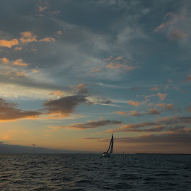 The Last Twilights for 2017 by Ms Lyons Photography - Transportation Boats ( sunsets, twilight photography, yacht, yacht racing )
