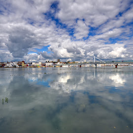 Shoreham By Sea by Mark Bond - Landscapes Waterscapes ( reflection, sky, hdr, sussex, cloud, shoreham by sea, adur, river )