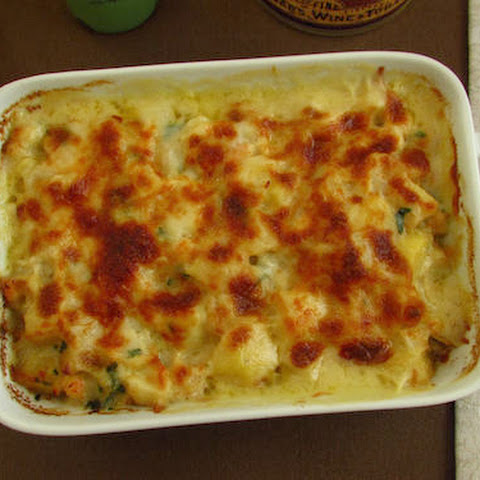 Cod Gratin In The Oven With Shrimp