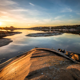 Dammen by Ronny Svendsen - Landscapes Sunsets & Sunrises ( water, fredrikstad, reflection, d750, sunset, nikon )