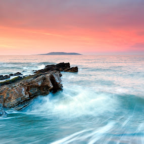 Pastel Sunset by Brens Photo's - Landscapes Waterscapes ( colour, water, pastel, sunset, dublin, seascape, light )