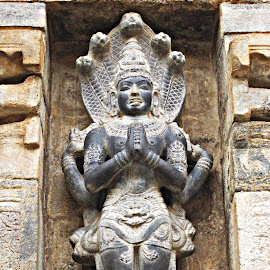 snake god by Venkat Krish - Buildings & Architecture Statues & Monuments ( #snake, #wall, #stone, #architecture, #god, #statue, #sculpture, #temple, #building )