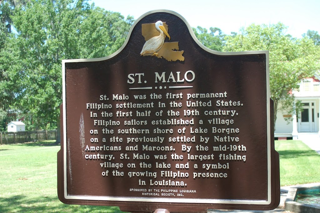 St. Malo was the first permanent Filipino settlement in the United States. In the first half of the 19th century, Filipino sailors established a village on the southern shore of Lake Borgne on a ...