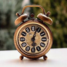 Still life alarm clock by Jovana Nešić - Artistic Objects Antiques ( time, numbers, clock, vintage, still life, retro, antique, antiques )
