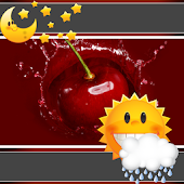 Cherry Clock And Weather APK for Bluestacks