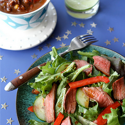 Grilled Flank Steak Salad with Smoked Paprika Dressing