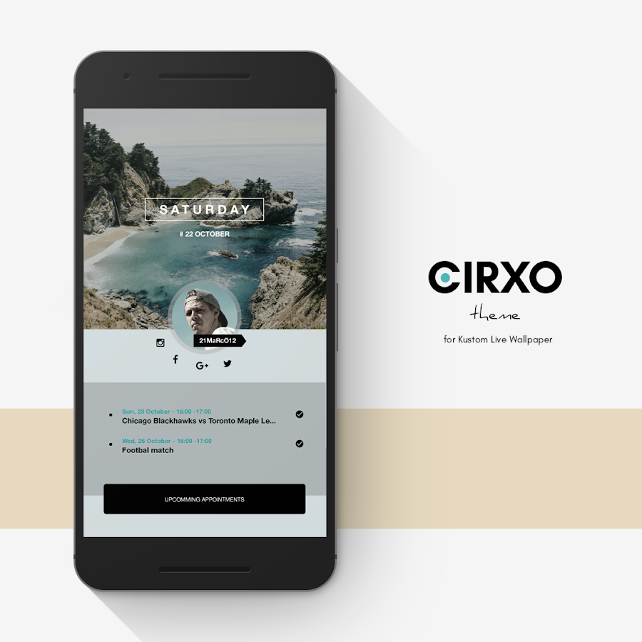 Cirxo Theme for KLWP Screenshot 2