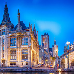 by  pemavis Photography - Buildings & Architecture Public & Historical ( gent, hdr, nightshot, tonmapping, belgium, historical )