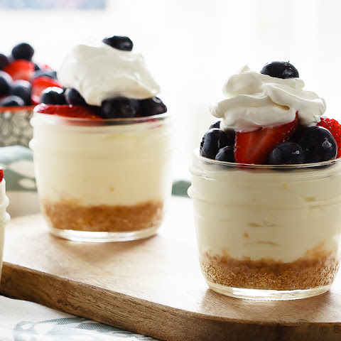 Lemon Berry No Bake Cheesecake Cups