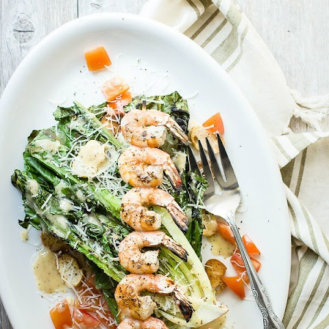 Grilled Caesar Shrimp Salad