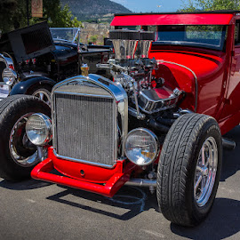 Red Rocket by Ron Mullins - Transportation Automobiles ( car, red, coupe, car show, ford, modified )