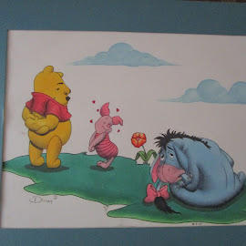 Pooh and Friends by David Jarrard - Drawing All Drawing ( drawings, homeless, disney, poog )