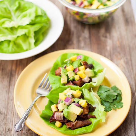 Slow-Cooker Carnitas Lettuce Wraps with Pineapple & Avocado Salsa