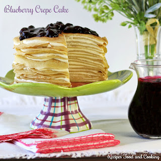 Blueberry Crepe Cake