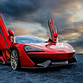 Wind Beneath My Wings by JEFFREY LORBER - Transportation Automobiles ( lorberphoto, mclaren, rust 'n chrome, exotic, jeffrey lorber, red car )